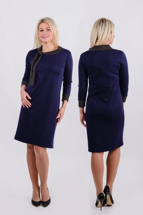 Платье П 162 (темно-синий)
