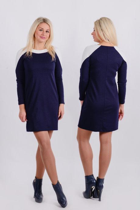 Платье П 202 (темно-синий)