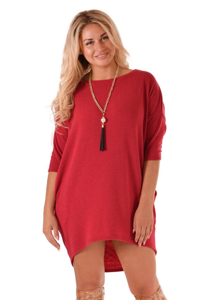 Платье П 437 (бордовый)