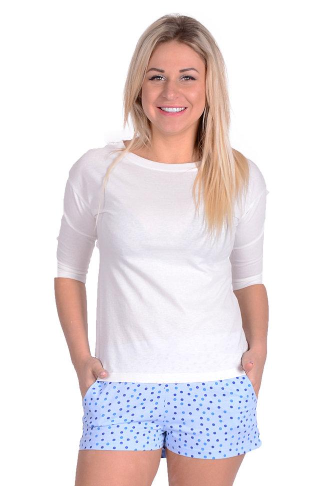 Женская пижама ЖП 001 (горох + белый) купить по цене 370 в интернет ... ae9e8e68596d4