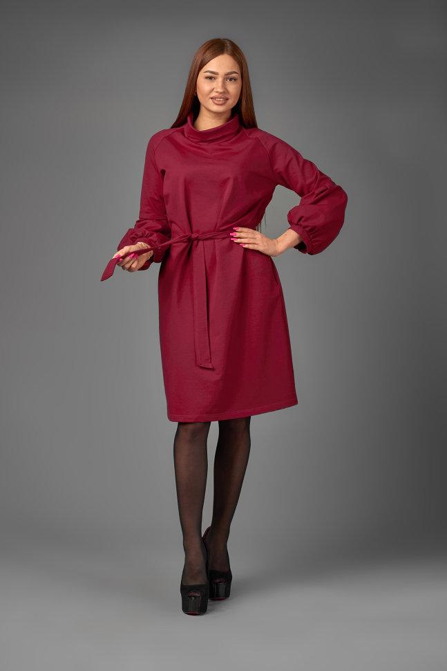 Платье П 769 (бордовый)