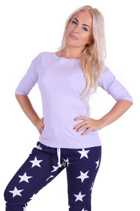 4702dfa516297 Женская пижама ЖП 002 (звезды+светло-сиреневый) купить по цене 490 ...
