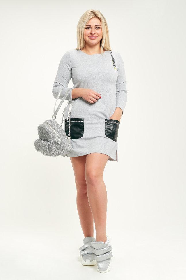 Платье П 430/1 (серый)