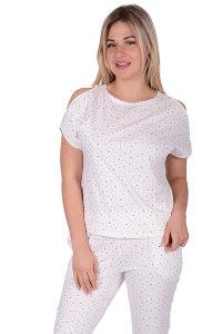 73c6937450cfd Женская пижама ЖП 003 (бежевые звезды) - Женская пижама ЖП 003 (бежевые  звезды