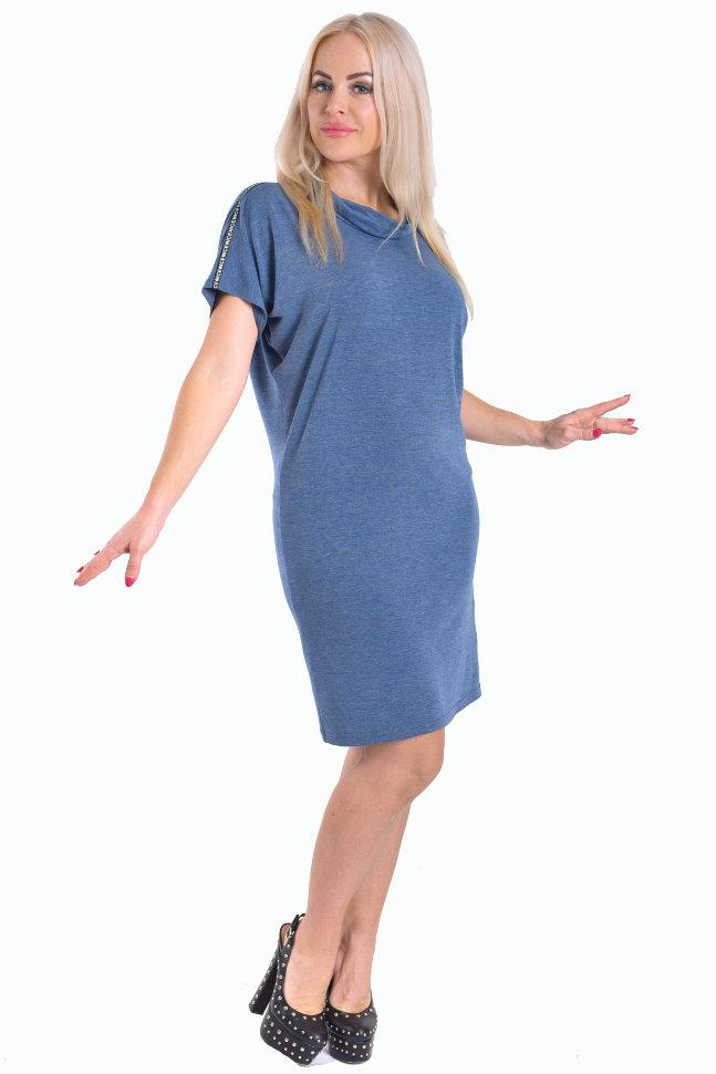 ecf1828fe7cab42 Платье П 107/1 (сине-серый меланж) купить по цене 540 руб. руб. в ...